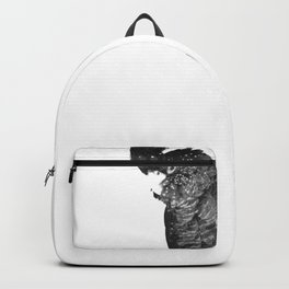 Black and White Cockatoo Illustration Backpack