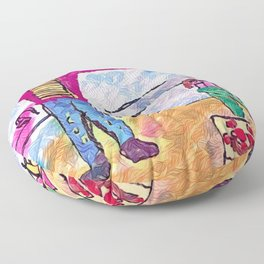 Without modesty Floor Pillow