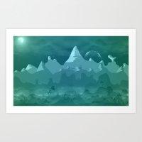 Alien landscape 2 Art Print