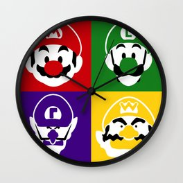 THE MOUSTACHED FOUR Wall Clock