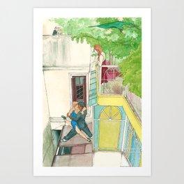 Calle Ecuador, a daydream tango Art Print
