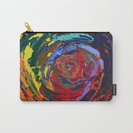 Memory, Circle vibrant abstract, NYC artist Carry-All Pouch