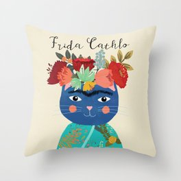 Frida Cathlo Throw Pillow