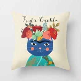 Frida Cathlo Throw Pillow