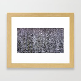 Snow Branches Abstract Framed Art Print