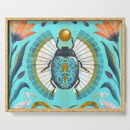 Egyptian Scarab Serving Tray