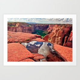 Reflections of Canyon De Chelly Arizona Art Print