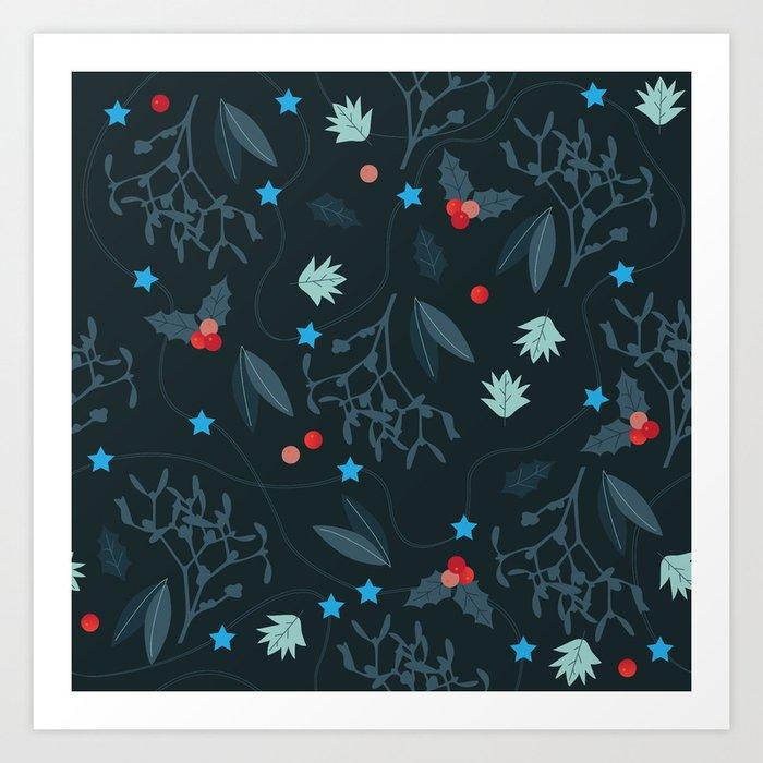 xmas pattern Art Print