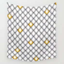 Fish Scale Pattern Design Wall Tapestry