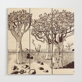 Quiver Tree Forest - Namibia Wood Wall Art