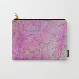 pink flower study Carry-All Pouch