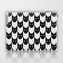 Black cat, white cat Laptop & iPad Skin