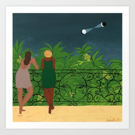 the Observers in the Night Art Print
