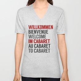Wilkommen Im Cabaret Unisex V-Neck