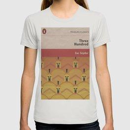 300, movie poster, penguin book version, Frank Miller, graphic novel T-shirt