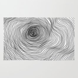 Abstract Tree Rings Rug