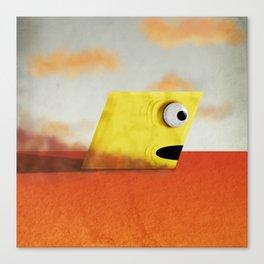 Yellow Rhombus Monster Canvas Print