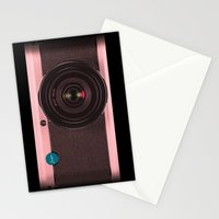 Vintage Camera III - Rosé Gold Stationery Cards