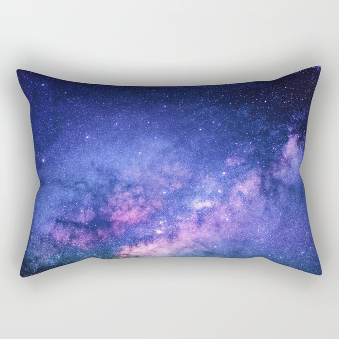 Galaxy, Blue Purple Night Sky, Universe Rectangular Pillow