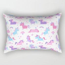 Fun Unicorns pattern Rectangular Pillow