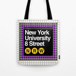 subway nyu sign Tote Bag