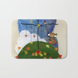 Swing Swing! Cat On A Swing Bath Mat
