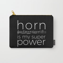 Horn is my super power (black) Carry-All Pouch
