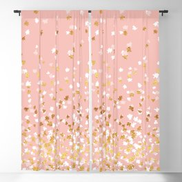 Floating Confetti - Pink II Blackout Curtain