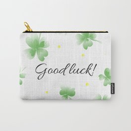 Four leaf clover design,good luck Carry-All Pouch