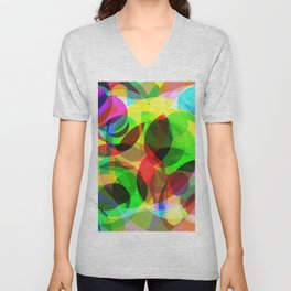 Abstract Leaf Unisex V-Neck