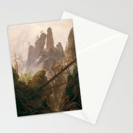 Rocky Landscape in the Elbe Sandstone Mountains Stationery Cards