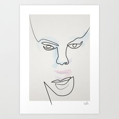 Madam Mask Art Print