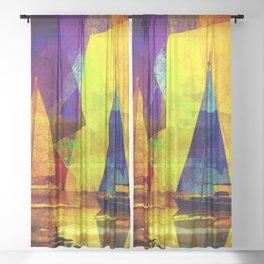 Evening sailing Sheer Curtain
