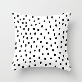 DOTTY BLACK Throw Pillow