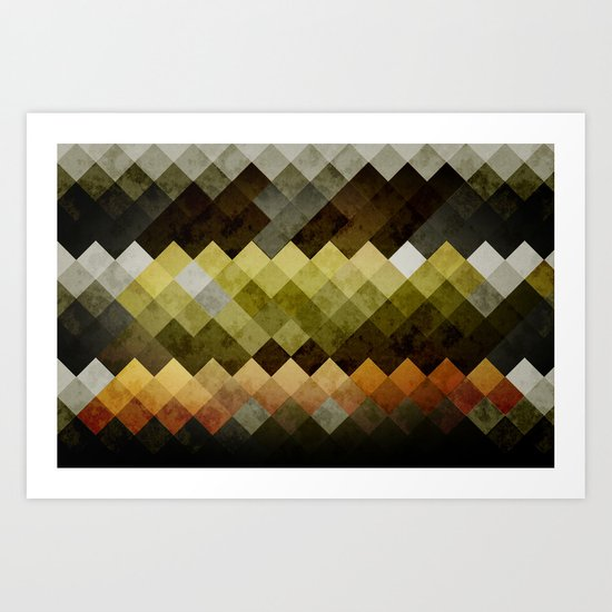 Abstract Cubes YBO Art Print