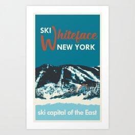 Ski Whiteface New York vintage poster Art Print