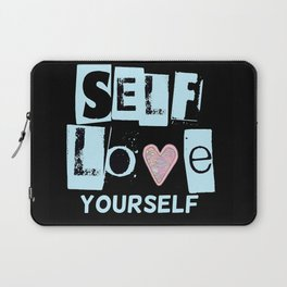Love Your Self in Blue Laptop Sleeve