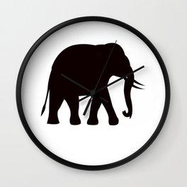 Black elephant logo Wall Clock