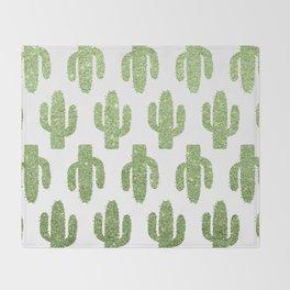 Glitter Cacti Throw Blanket
