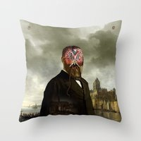 cthulhu Throw Pillows featuring Cthulhu by DIVIDUS