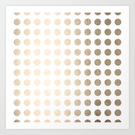 Simply Polka Dots in White Gold Sands Art Print