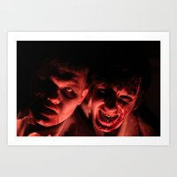 zombies Art Prints featuring Zombies! by Justin White