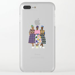 GIRLZ BAND Clear iPhone Case