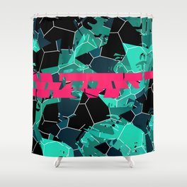 Crushing Contrast Shower Curtain