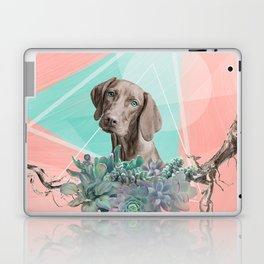 Eclectic Geometric Redbone Coonhound Dog Laptop & iPad Skin
