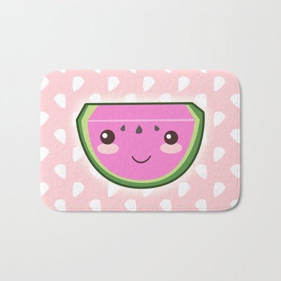 Kawaii Watermelon Bath Mat