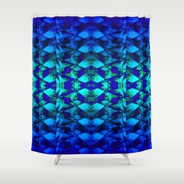 Blue pattern. Shower Curtain