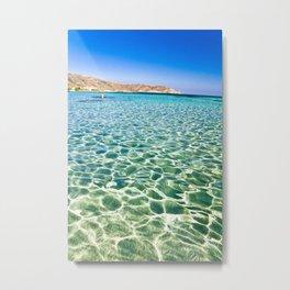 Elafonisi beach Metal Print