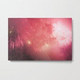 Universe of Fireworks. Metal Print