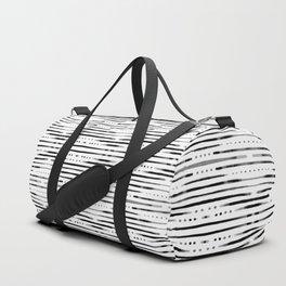 B&W Shibori #society6 #shibori Duffle Bag